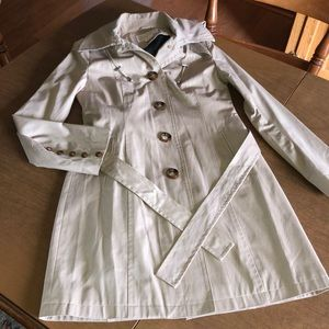 MICHAEL KORS Tan Trench Coat Jacket w/ Liner XS